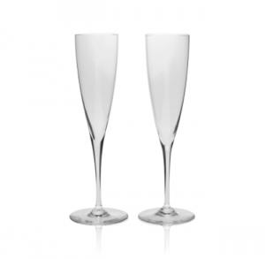 Michael C Fina Baccharat Champagne Flutes Wedding Gift