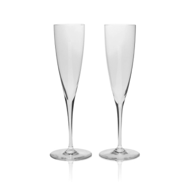 Michael C Fina Baccarat Champagne Flutes Wedding Gift