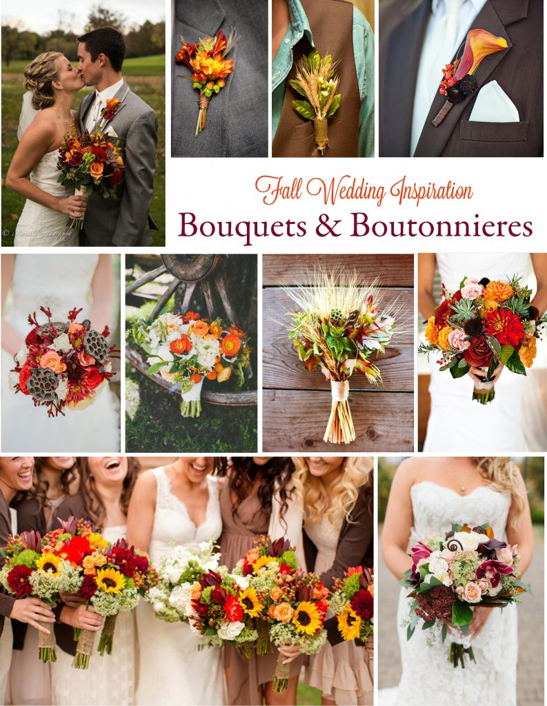Gorgeous Fall Wedding Inspiration: Bouquets & Boutonnieres | RegistryFinder.com
