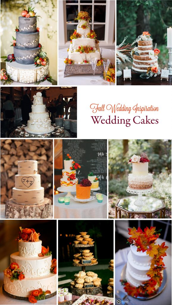 Gorgeous Fall Wedding Inspiration: Wedding Cakes | RegistryFinder.com