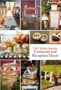 Gorgeous Fall Wedding Inspiration: Ceremony and Reception Décor | RegistryFinder.com