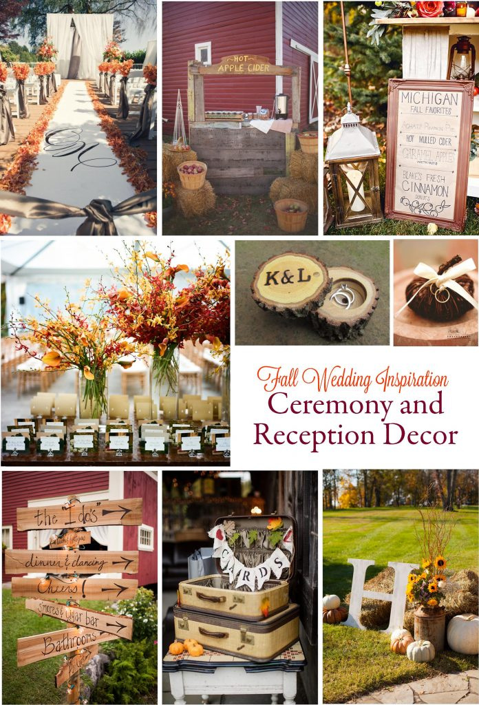 Gorgeous Fall Wedding Inspiration: Ceremony and Reception Décor | RegistryFinder.com