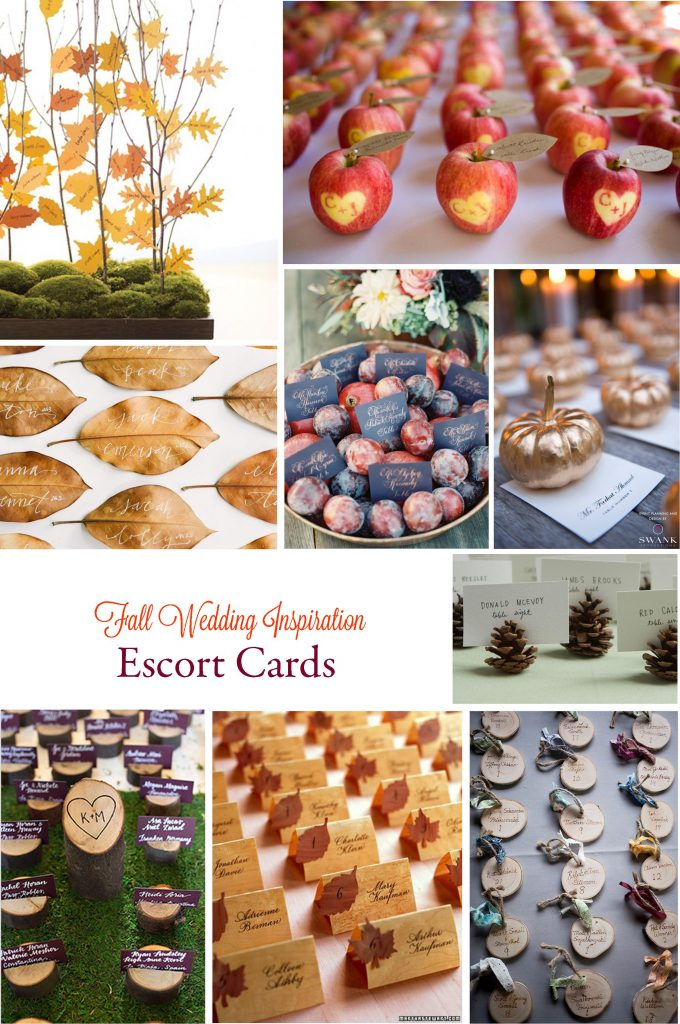 Gorgeous Fall Wedding Inspiration: Escort Cards | RegistryFinder.com