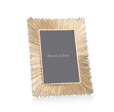 Michael C Fina Gold & Crystal Frame Wedding Gift