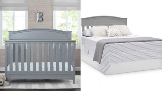 Budget Friendly Nursery | Delta 4 in 1 Convertible Crib