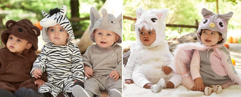 Adorable Baby Halloween Costumes: Pottery Barn Kids Animal Costumes | RegistryFinder.com