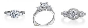 Pop the Question with a Ring She'll Love | Top Engagement Ring Styles: Dazzling 3-Stone Rings | RegistryFinder.com