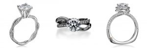 Pop the Question with a Ring She'll Love | Top Engagement Ring Styles: Rings with a Twist | RegistryFinder.com