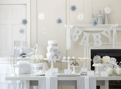 White Winter Baby Shower Theme