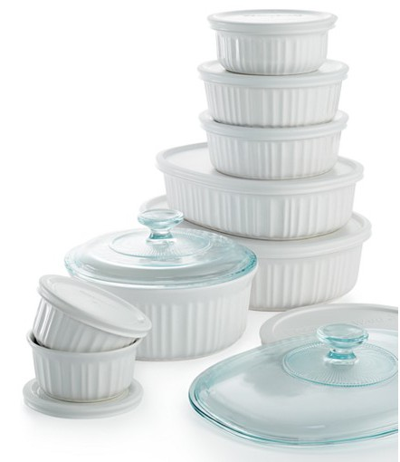 Corning ware French White Bakeware from Macy's - Best Products to add to your Wedding Gift Registry