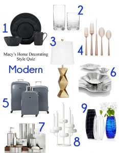 What's Your Home Decorating Style? Take Macy's Home Decorating Quiz!   Modern Home Décor   from RegistryFinder.com