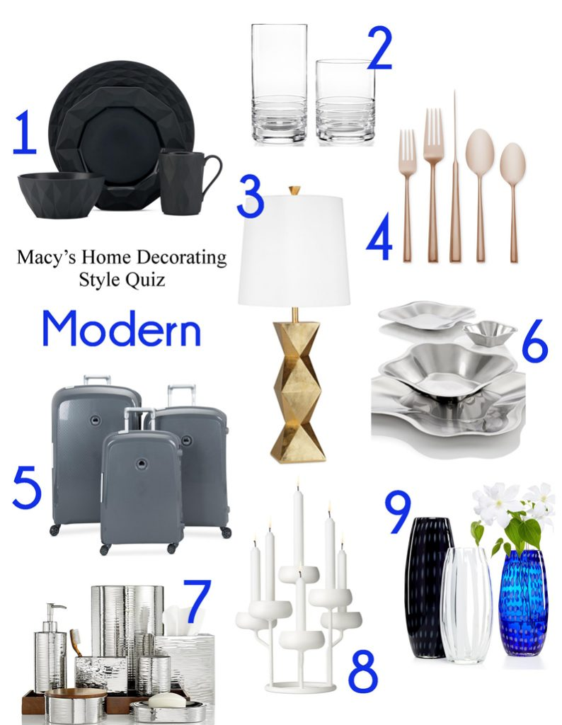 What's Your Home Decorating Style? Take Macy's Home Decorating Quiz! | Modern Home Décor | from RegistryFinder.com