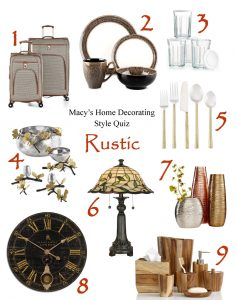 What's Your Home Decorating Style? Take Macy's Home Decorating Quiz! | Rustic Home Décor | from RegistryFinder.com