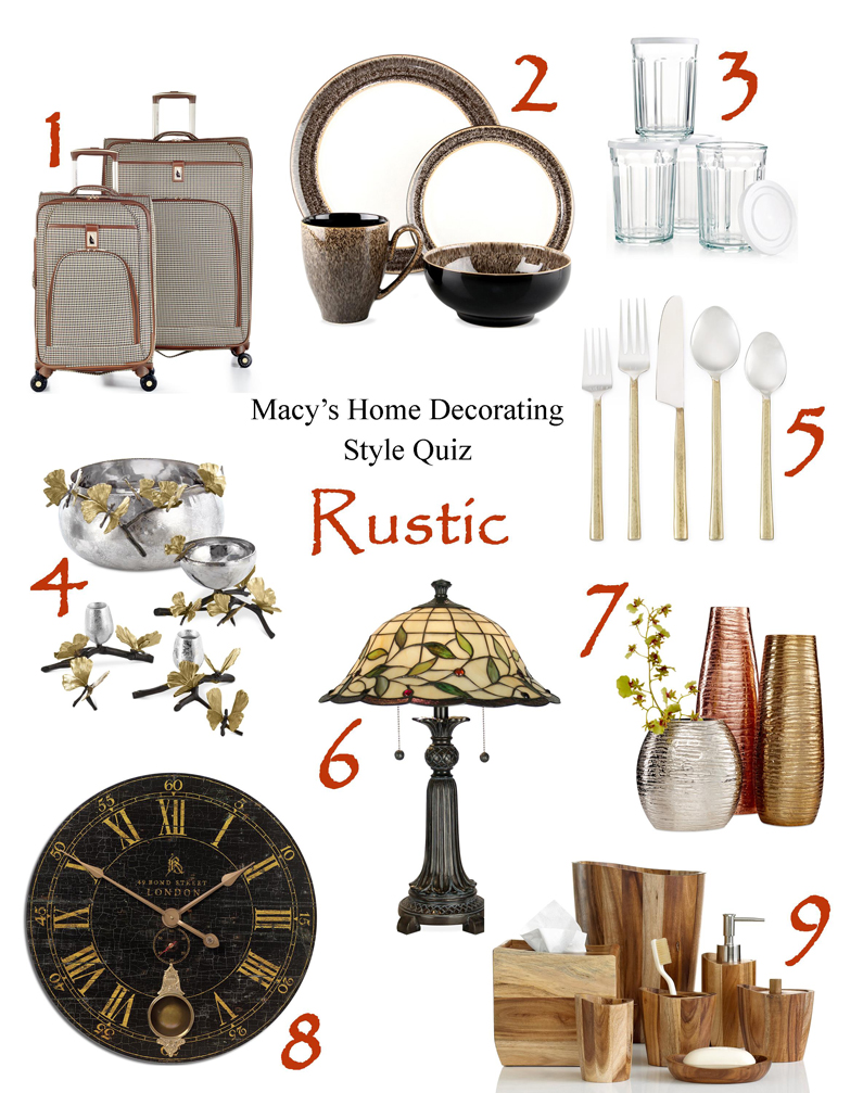 What's Your Home Decorating Style? Take Macy's Home Decorating Quiz!   Rustic Home Décor   from RegistryFinder.com