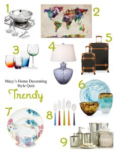 What's Your Home Decorating Style? Take Macy's Home Decorating Quiz! | Trendy Home Décor | from RegistryFinder.com