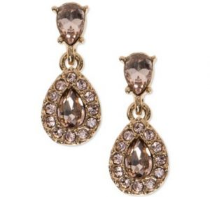 and Givenchy Gold-Tone Chocolate Crystal Teardrop Earrings