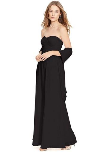 Lauren Ralph Lauren Strapless Evening Gown