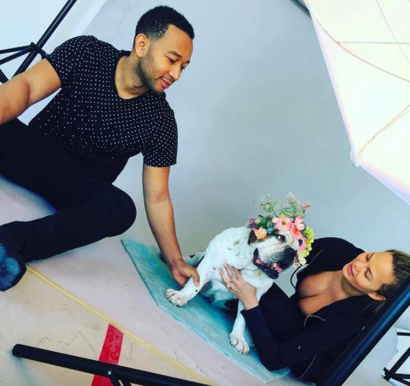 Baby Nursery Photo Shoot with Chrissy Teigen and John Legend