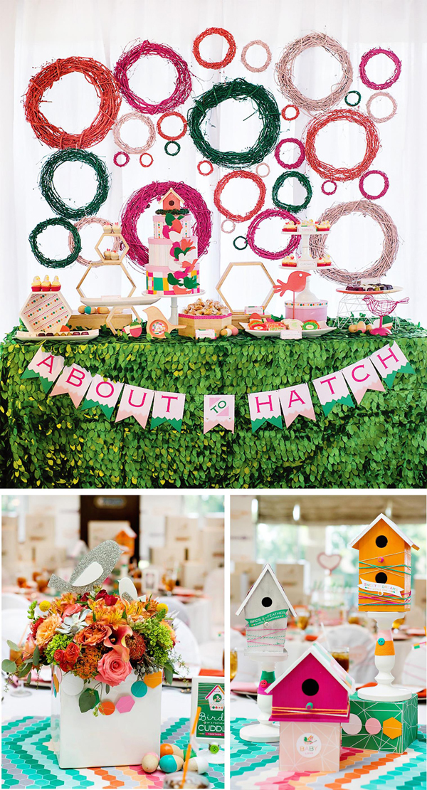 Fresh Ideas for a Springtime Baby Shower | Spring Baby Shower Themes and Inspiration from RegistryFinder.com | About to Hatch Baby Shower