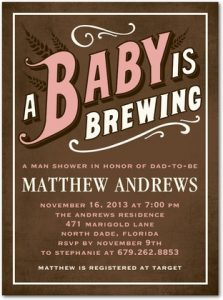 co-ed, beer-themed baby shower