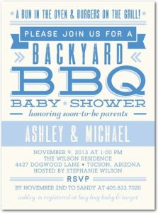 Boy's Baby Q Baby Shower Invitations