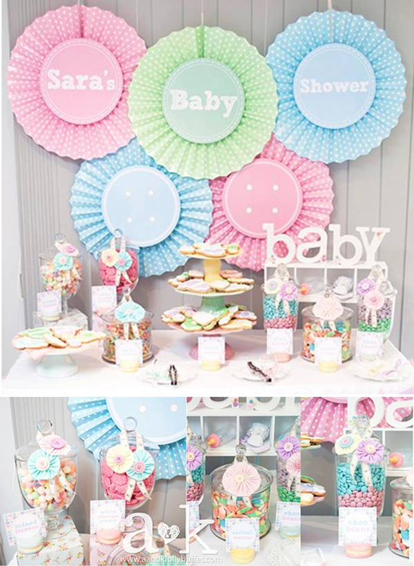 Fresh Ideas for a Springtime Baby Shower | Spring Baby Shower Themes and Inspiration from RegistryFinder.com | Cute as a Button Baby Shower