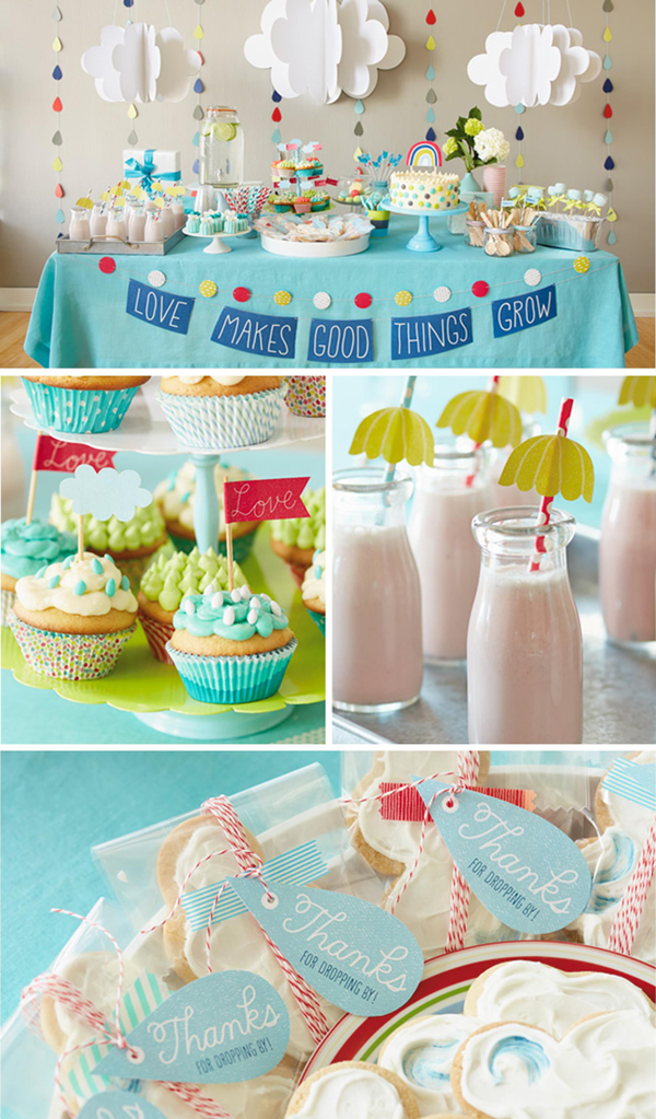 Fresh Ideas for a Springtime Baby Shower | Spring Baby Shower Themes and Inspiration from RegistryFinder.com | Love Makes Good Things Grow Baby Shower