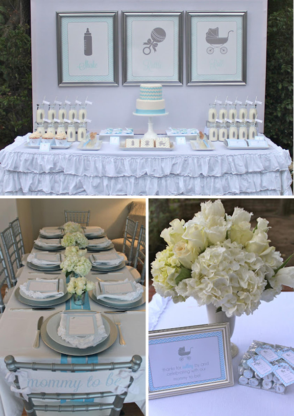 Fresh Ideas for a Springtime Baby Shower | Spring Baby Shower Themes and Inspiration from RegistryFinder.com | Shake, Rattle and Roll Baby Shower