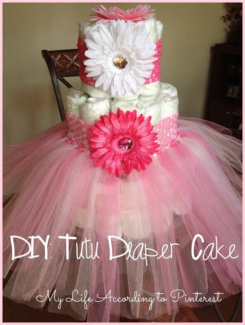 DIY Tutu Diaper Cake