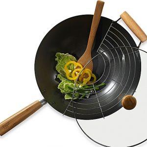 Infuse 4-Piece Nonstick Steel Wok Set