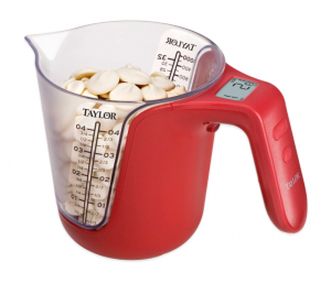 Digital Food Scale in a Measuring Cup