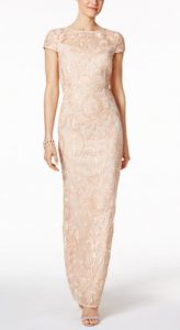 Petite Lace Column Gown   Mother of the Bride Dress