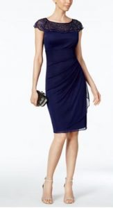 MSK Beaded Ruched Sheath Dress | Mother of the Bride Dress