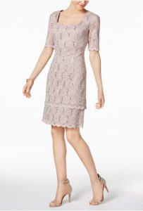Sequin-Lace Sheath Dress | Mother of the Bride Dress