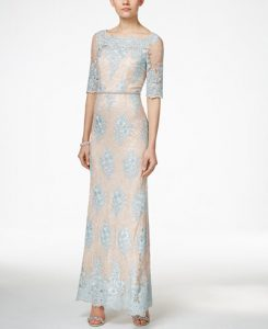 Tahari ASL Embellished Lace Dress