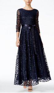 Floral-Lace A-Line Gown | Mother of the Bride Dress