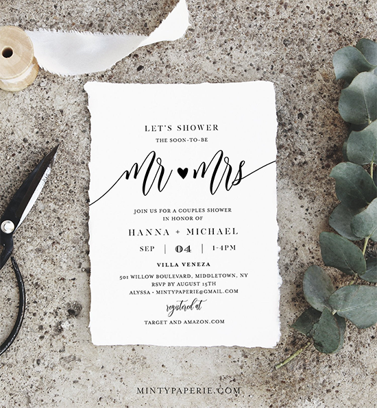 Couple Wedding Shower Invite