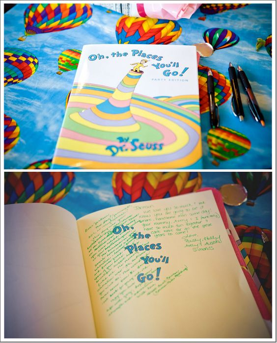 Unique Gifts for the Grad | Dr. Seuss Guest Book