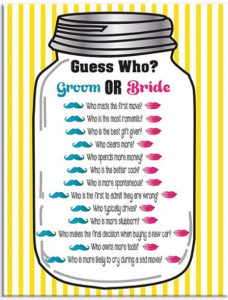 Guess Who Wedding Shower Game