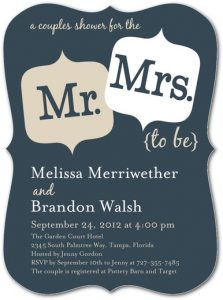 Mr. & Mrs. Wedding Shower Invitation