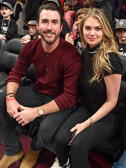 Justin and Kate at the NBA All-Star game in Toronto on Valentine's Day.