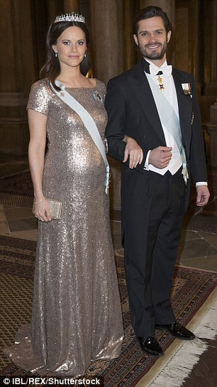 Stepping out at an official event at the Royal Palace in Stockholm in February.