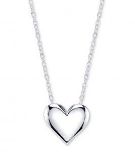 Unwritten Heart Pendant Necklace in Sterling Silver