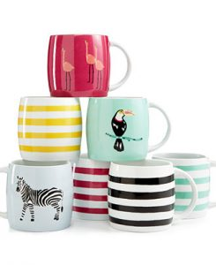 Martha Stewart Collection Whim Mugs Collection, Only at Macy's