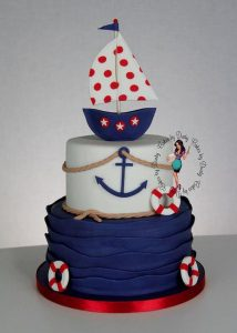 Cake with Sailboat