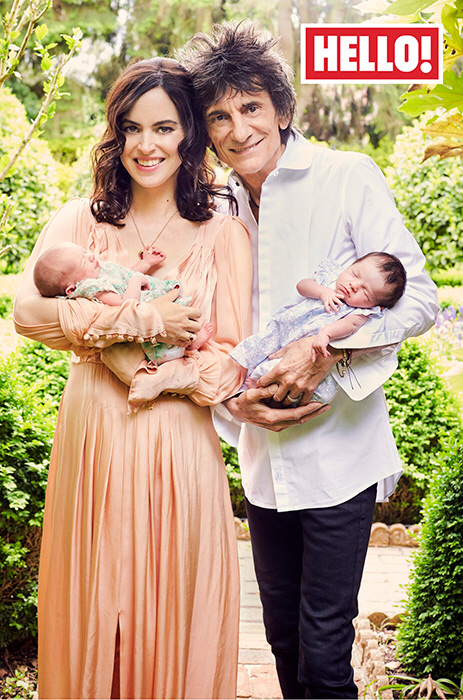 Ronnie and Sally Wood with twin daughters
