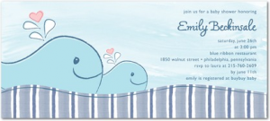 Whale Baby Shower Invites