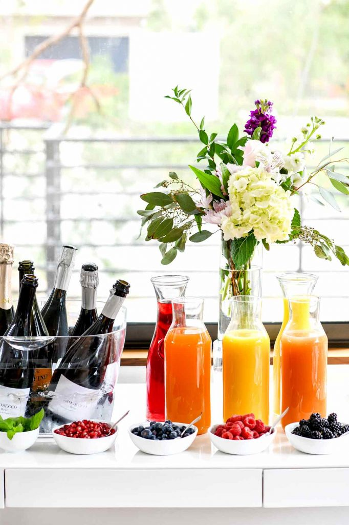 Mimosa Bar for a Bridal or Baby Shower
