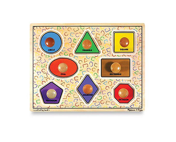 Melissa & Doug® Wooden Jumbo Shapes Knob Puzzle