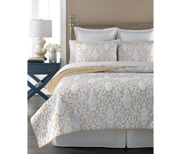 Martha Stewart Collection Chateau Latte Quilts, Only at Macy's